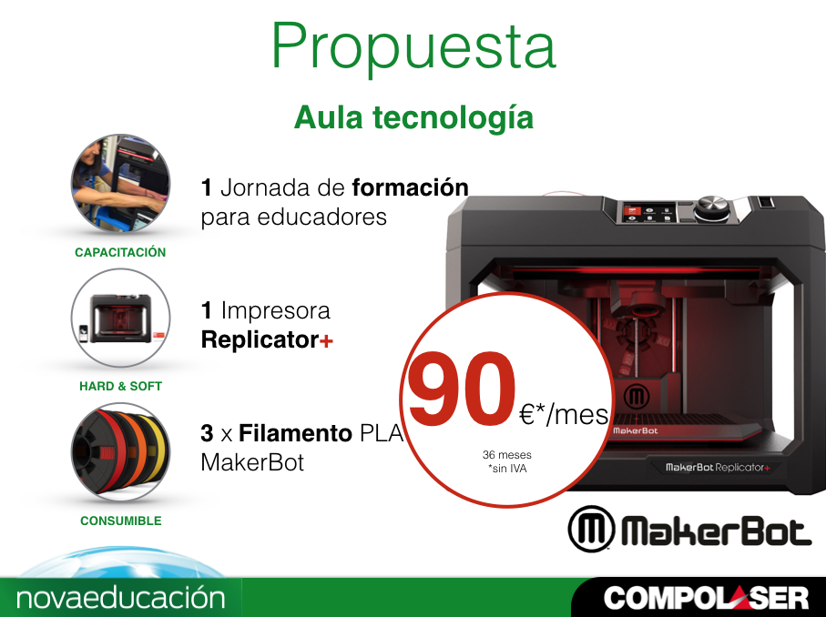 Kit Aula MakerBot Replicator+ (Renting)