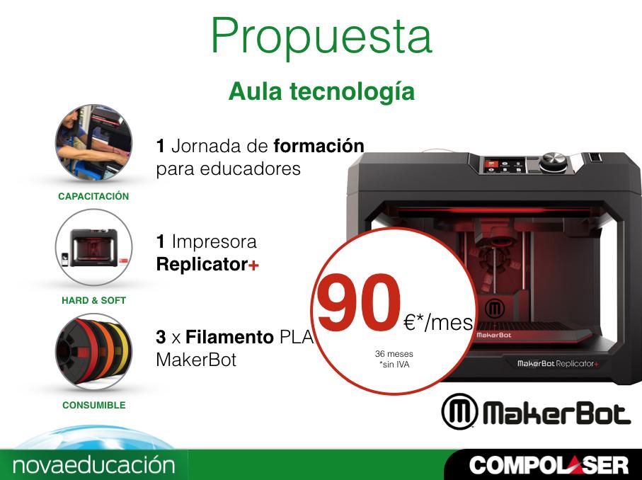 Kit Aula MakerBot Replicator+ (Renting)
