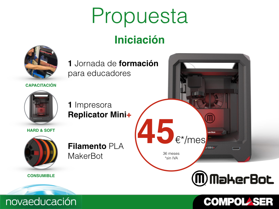 Kit inicio Replicator Mini + (Renting)